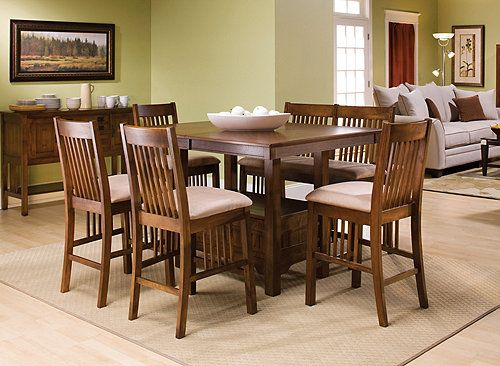 Aspen 6 Pc Counter Height Dining Set Dining Sets