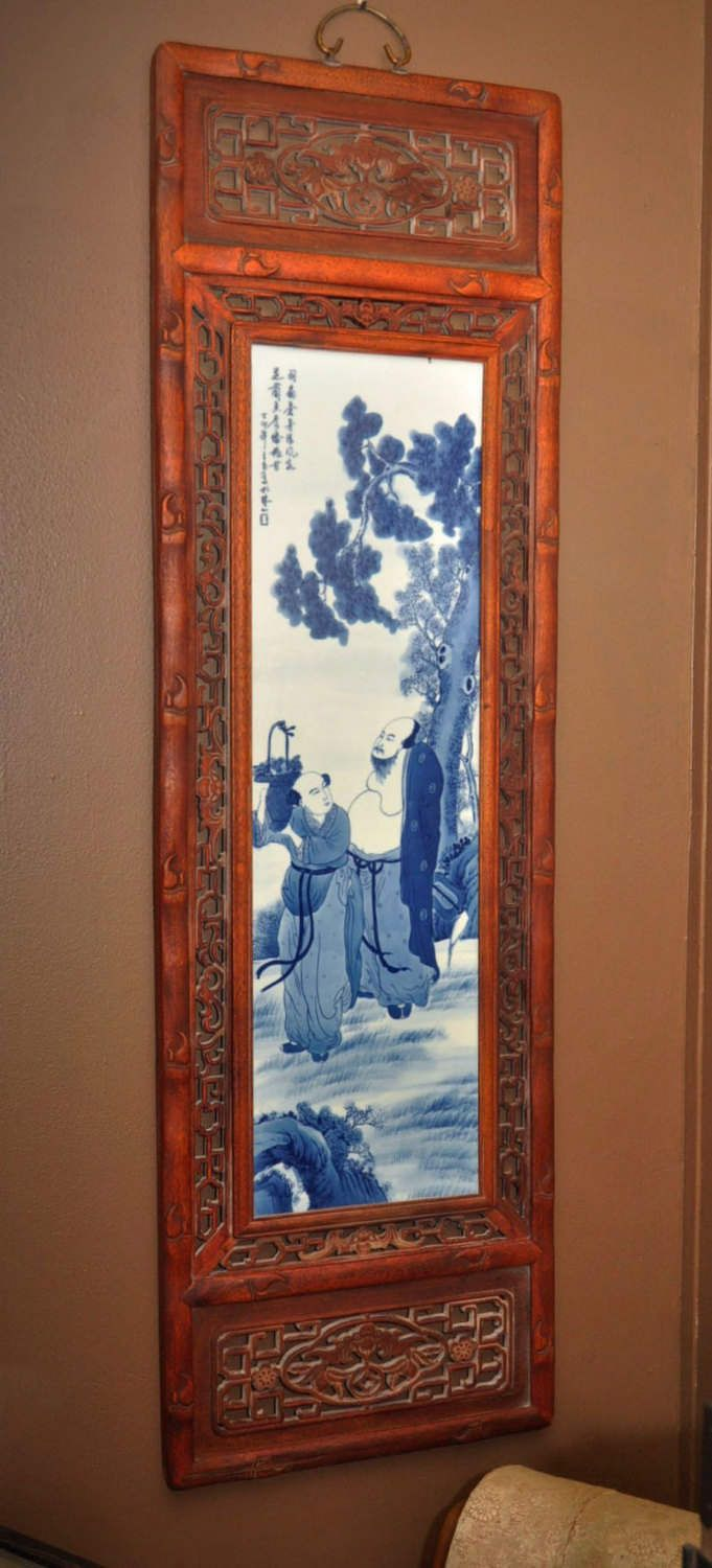 Chinese Porcelain Tile Painting