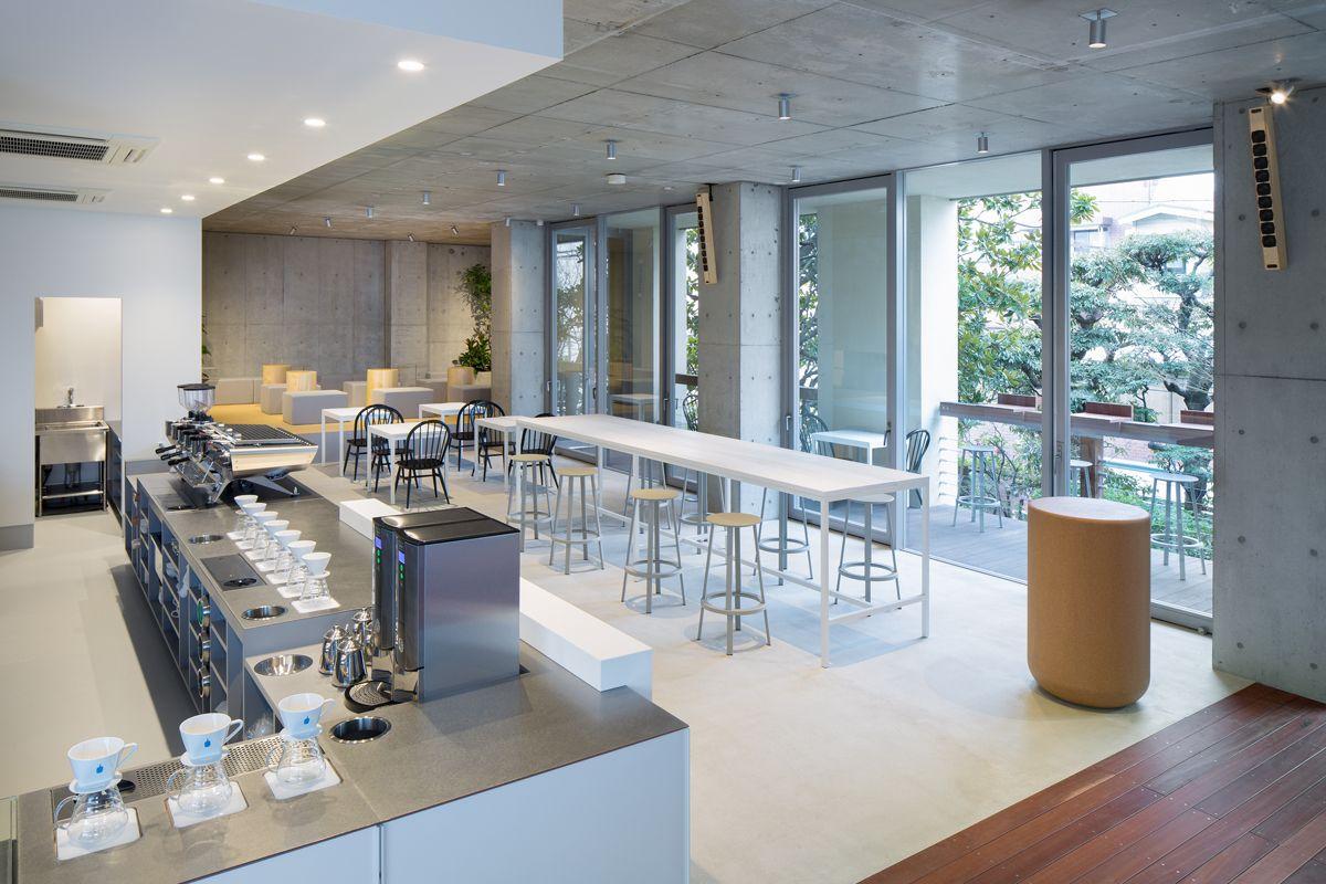 blue bottle coffee aoyama cafe - Blue Cafe Decorating