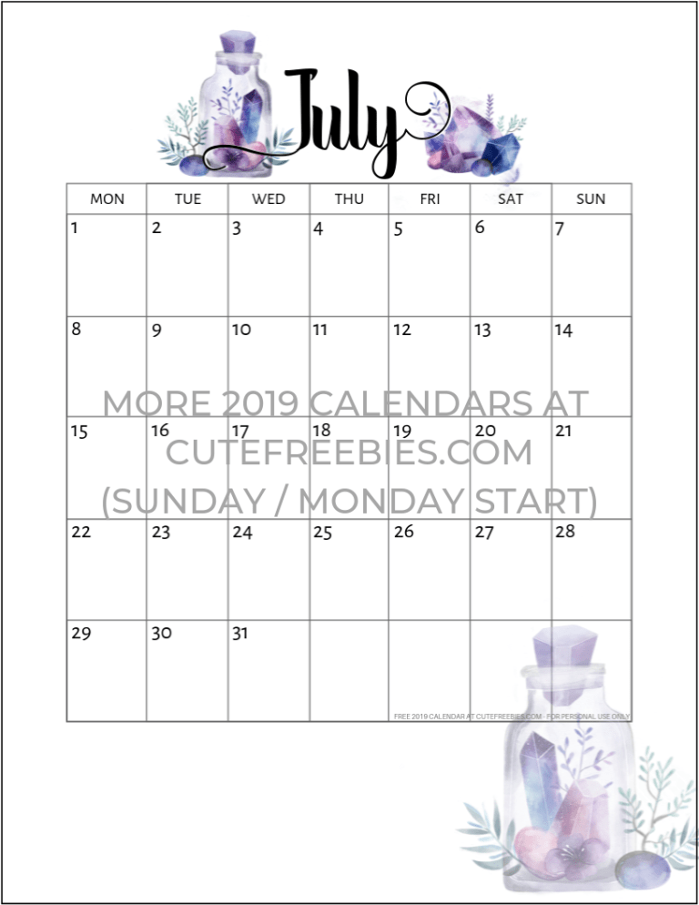 Free Printable 2020 2021 Calendar Pdf Crystal Gems Cute Freebies For You Free Printable Monthly Planner Monthly Planner Printable Free Printable Calendar