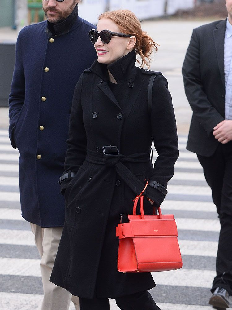 cc06ff9a9 Paparazzi Rarely Spots Jessica Chastain, but When They Do, Her Bags are  Always Great