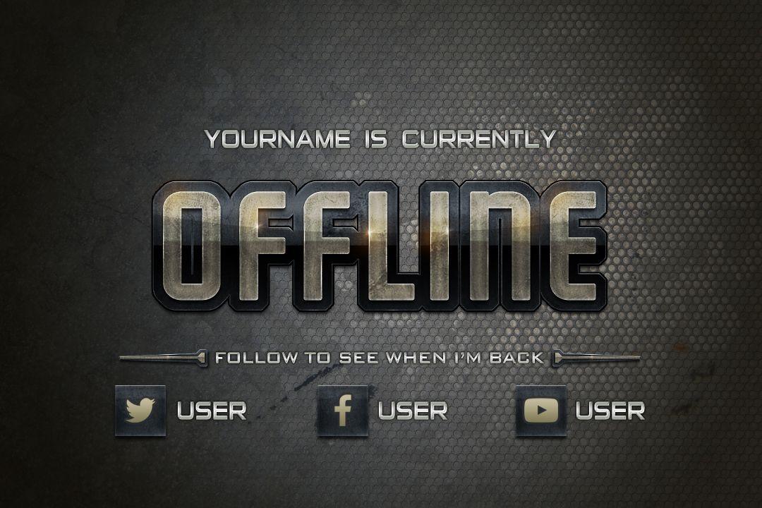 Gamergrunge Offline Banner Kit Twitch Graphics Youtube Channel