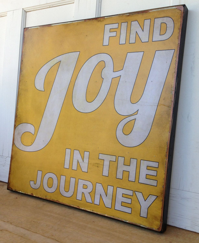 Find Joy in the JourneyTin print on wood by emilyrooneydesigns