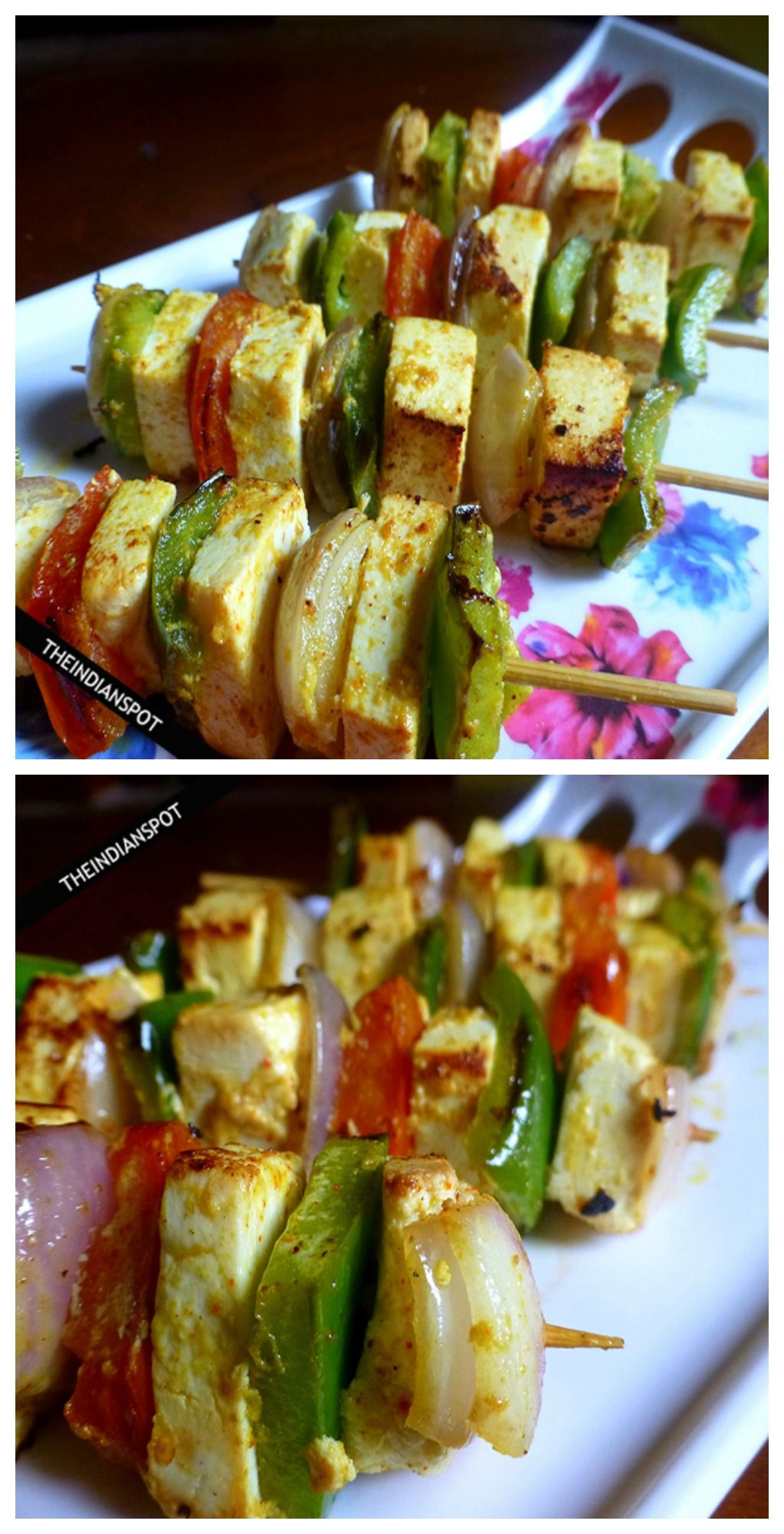 easy paneer tikka grilled cottage cheese recipe cottage cheese recipes paneer tikka cheese on hebbar s kitchen recipes laccha paratha id=57477