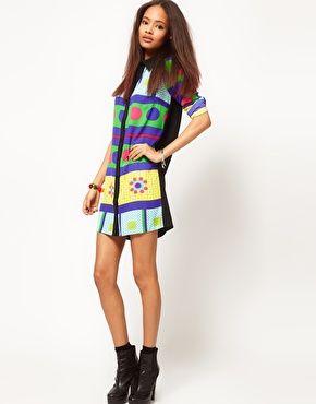 ASOS Shirt Dress In Rocco Remix Print