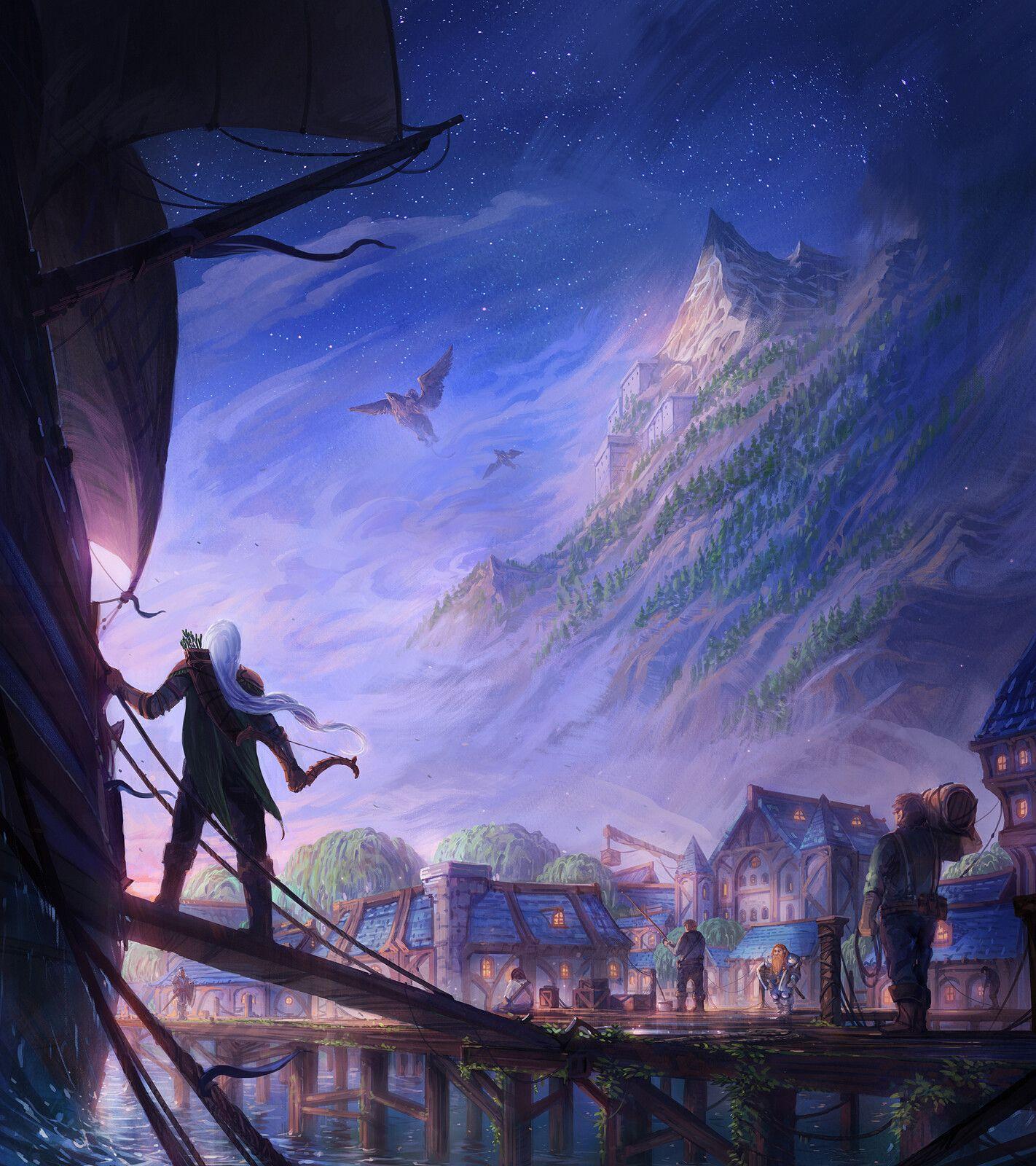 World Of Warcraft Classic Arriving In Menethil Harbor Jorge Jacinto On Artstation At Https Www In 2020 Warcraft Art World Of Warcraft Characters World Of Warcraft