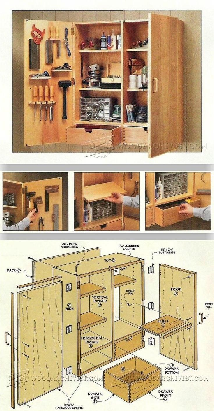 Wall Tool Cabinet Plans Workshop Solutions Plans Tips And