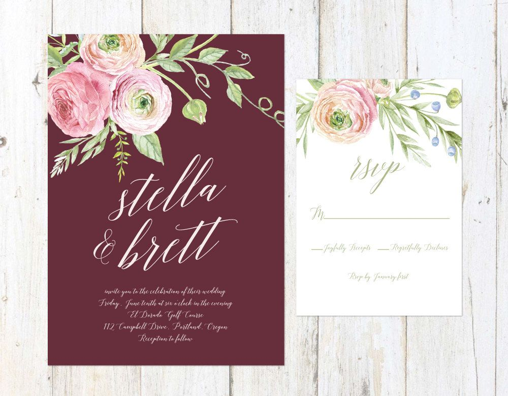 image result for burgundy wedding invitations | wedding color,