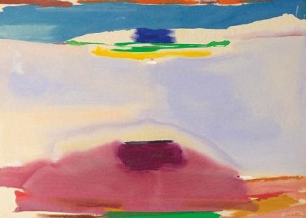 """Helen Frankenthaler """"Nature Abhors a Vacuum"""", 1974 www.tramake.com art, art history, contemporary art, functional art, decor and design blog"""