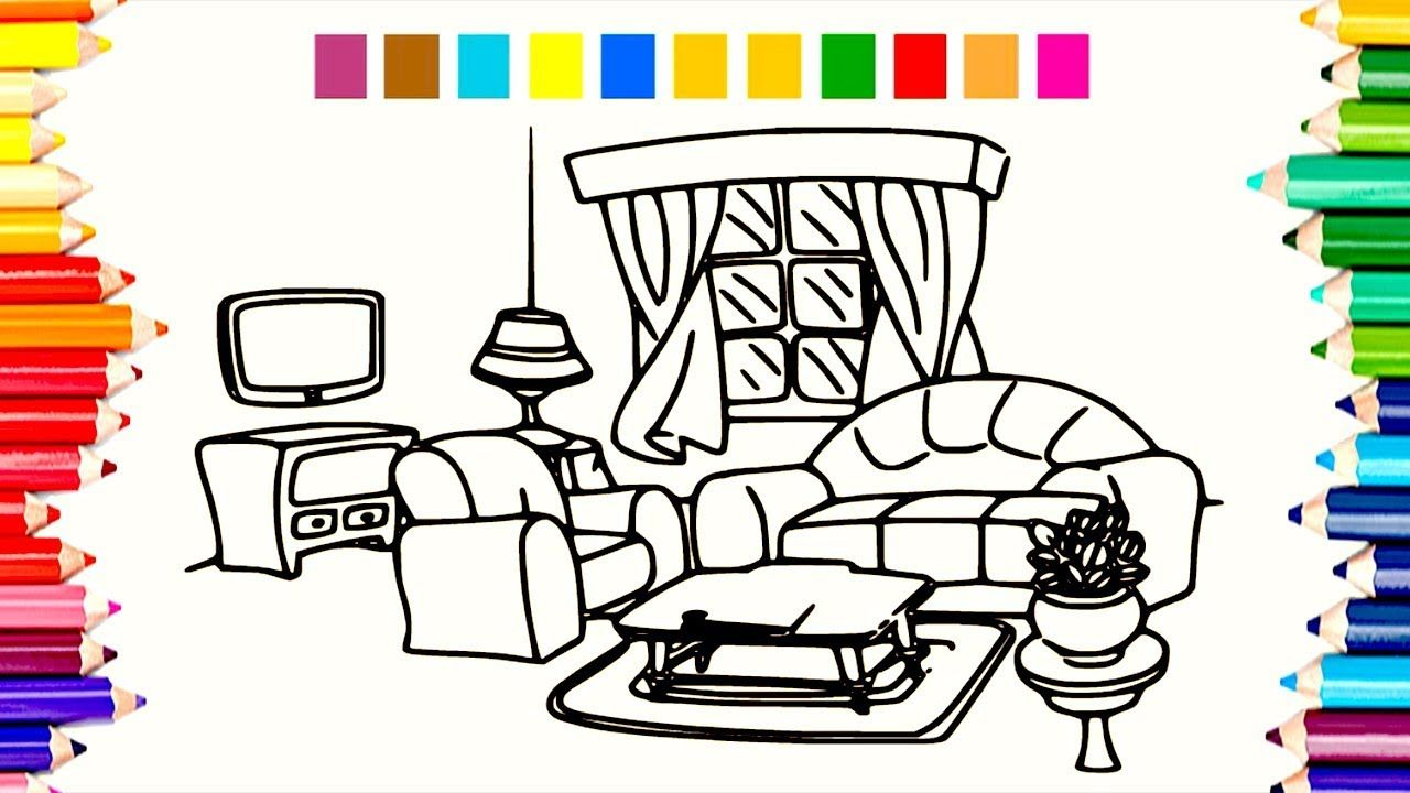 Inspired Living Room Coloring Pages Coloring Books Coloring