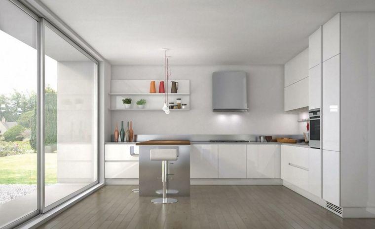 cocinas blancas modernas 2015 - Buscar con Google Cocinas blancas