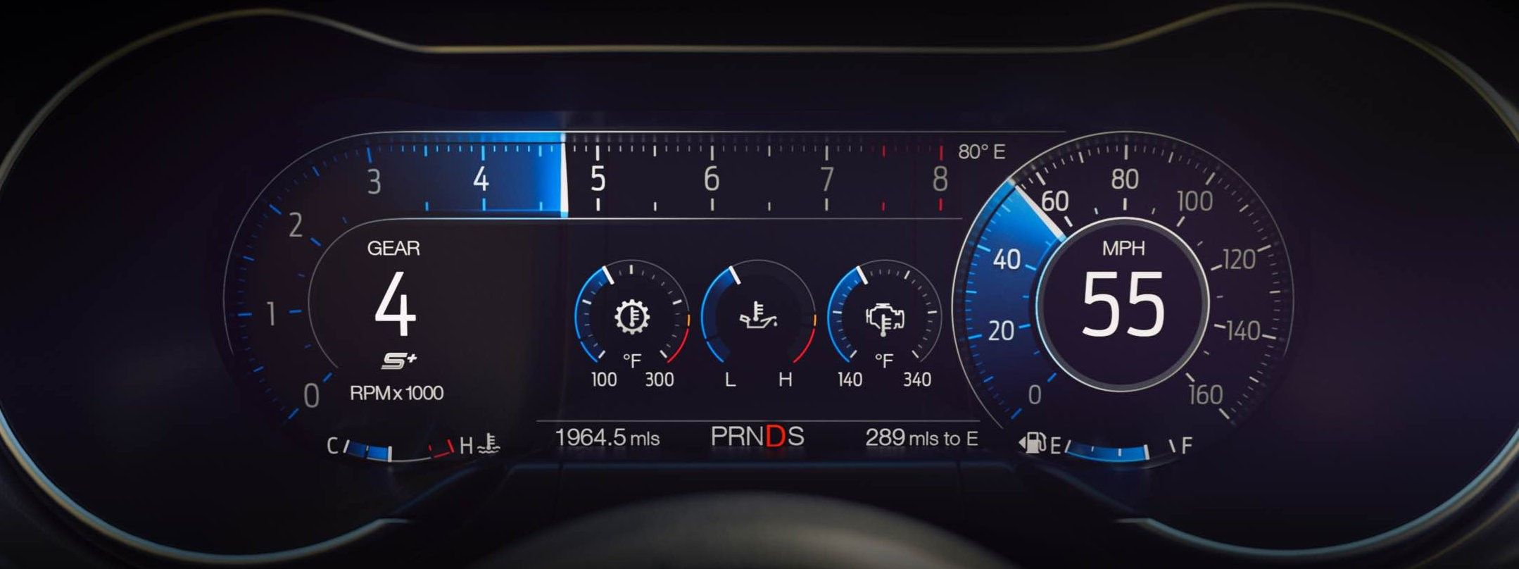 2018 Ford Mustang Optional 12 Lcd Digital Instrument Cluster Shown In Sport View Mustang Interior Ford Mustang Ford Mustang Gt