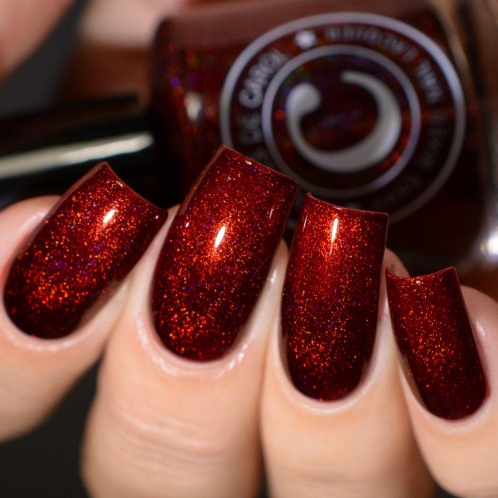 Slappy S Tie Red Nails Glitter Glittery Nails Stylish Nails Art