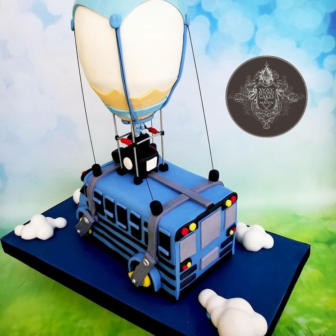 Fortnite Battle Bus Cake From Way Beyond Cakes Bus Cake