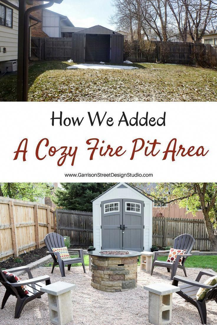 Adding a Fire Pit Area | Garrison Street Design Studio ...