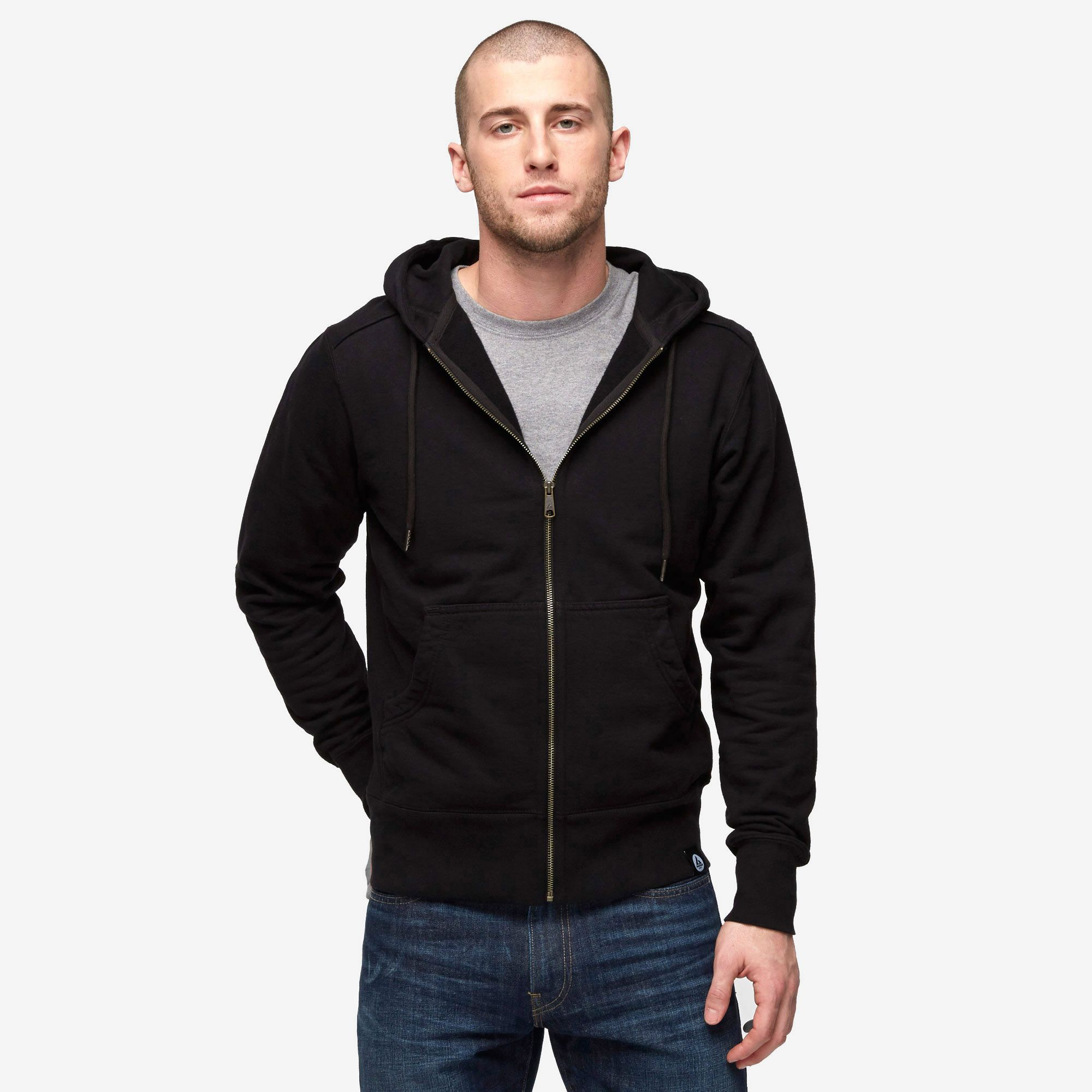Classic Full Zip, Black by American Giant | There's a slate ...