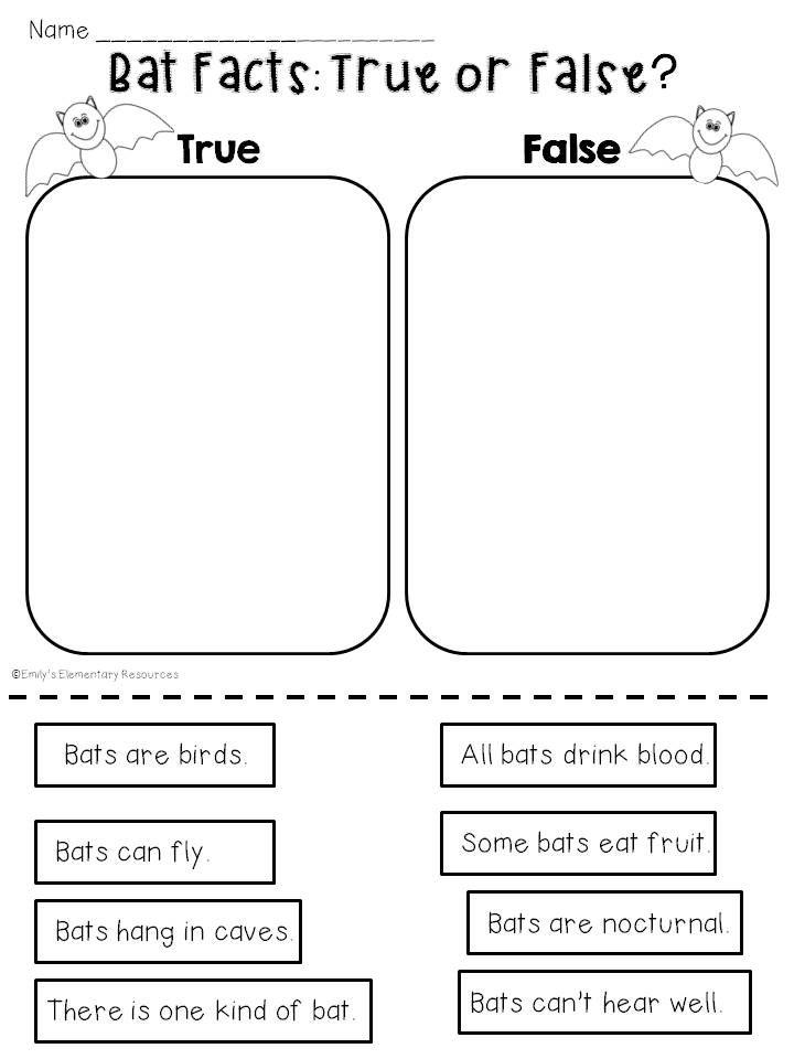 Fantastic Bats {a Mini-Unit Of Activities & Printables} First Grade  Reading, Bats Kindergarten, Bats Unit Study