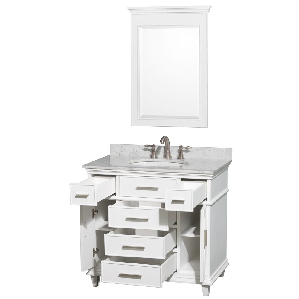 Superieur Avola Windsor 36 Inch White Finish Bathroom Vanity