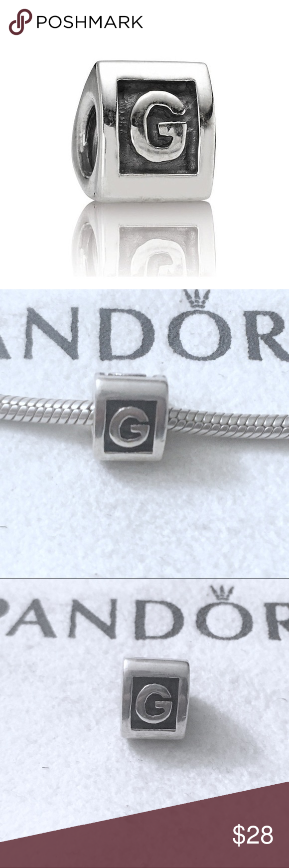 pandora initial g charm