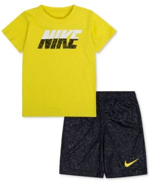 Nike 2-Pc. Graphic-Print T-Shirt & Shorts Set, Baby Boys (0-24 months) - Yellow 24 months