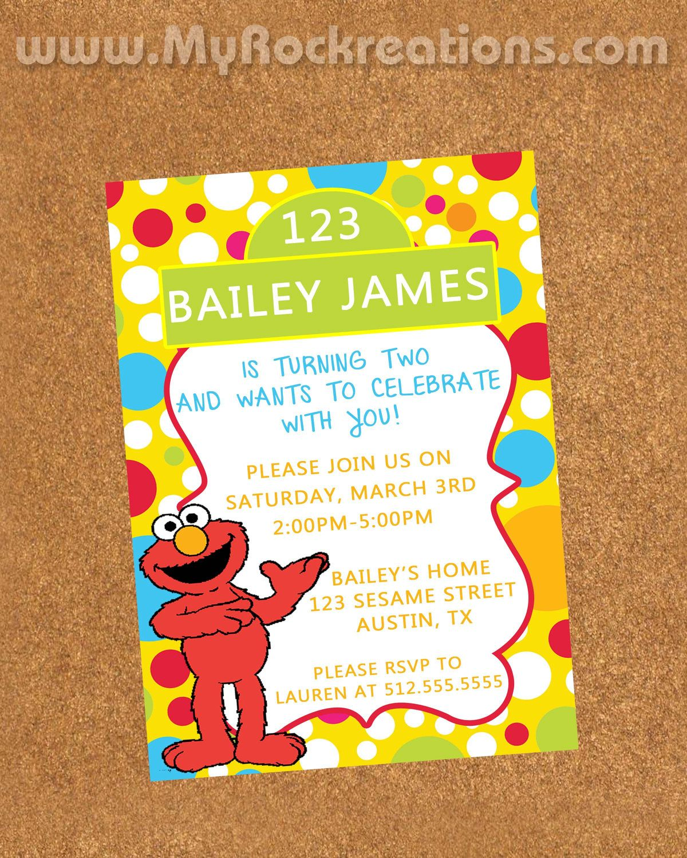 Sesame Street Birthday Party Invitation Digital by recreations ...