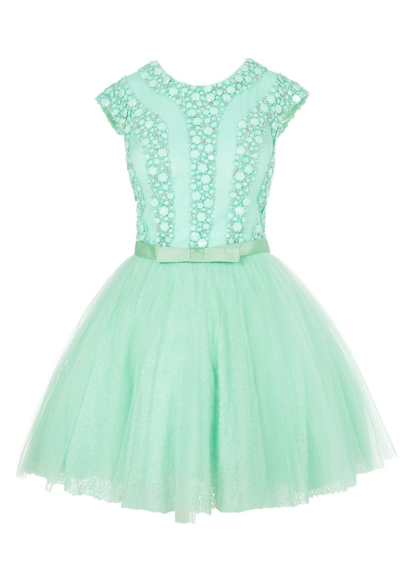 Belle Verde Menta Vestido De Fiesta Cocktail Dress Prom