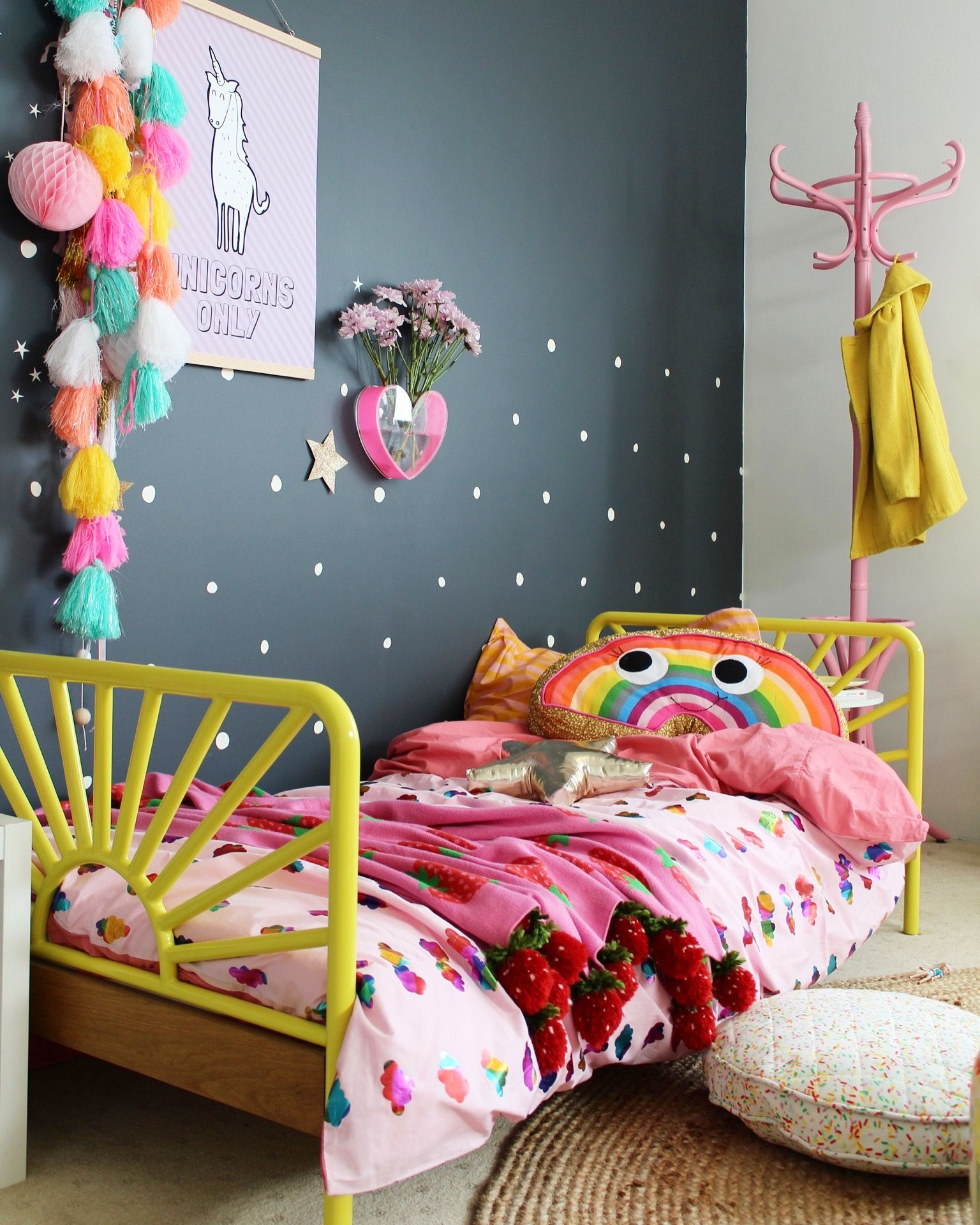 Toddler Room Decor Ideas cloudy with a chance of rainbows | toddler rooms, bedrooms and room
