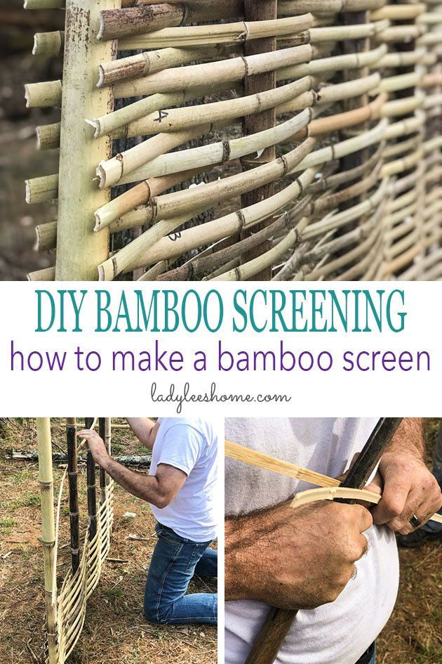 Diy Bamboo Screening - How To Make A Bamboo Screen | Lady Lee&039;S Home Bamboofence - Gardening