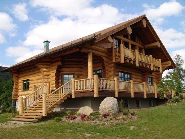 Holzhaus rundstammhaus blockhaus naturstammhaus for Holzhaus blockhaus