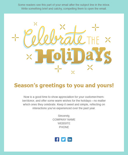 Holiday E Mail Template from i.pinimg.com