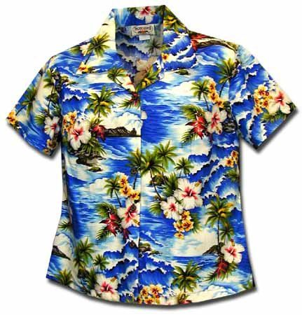 a86e2623 Paradise Hibiscus Hawaiian Shirts Womens Hawaiian Shirts Aloha Shirt  Hawaiian Clothing ** You can get additional details at the image link.