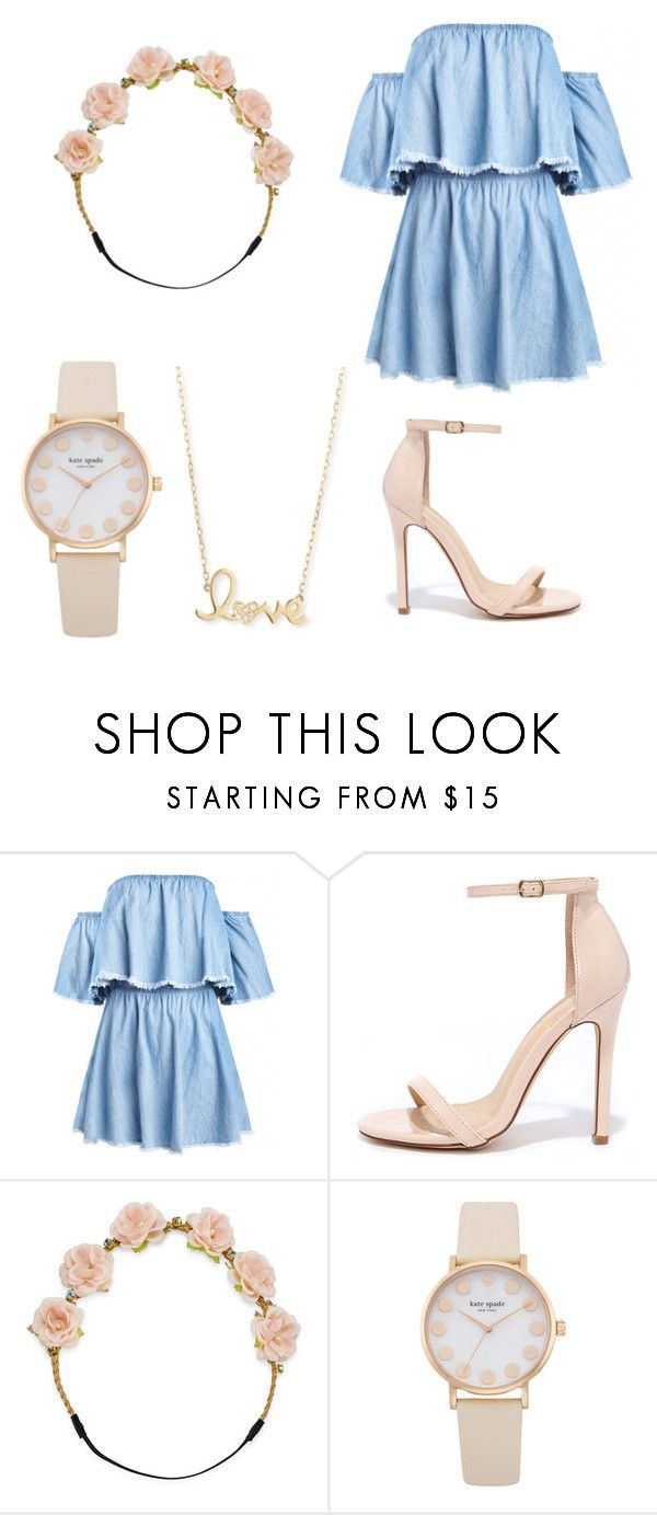 """""""Denim flowers"""" by iguessits-emi ❤ liked on Polyvore featuring Liliana, Carole and Sydney Evan"""