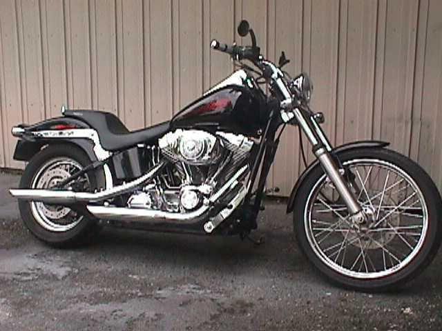 eBay: 2005 Harley-Davidson Softail Black 2005 Harley Davidson 1450 cc Softail FXSTI Stage 1 EFI Motorcycle #harleydavidson
