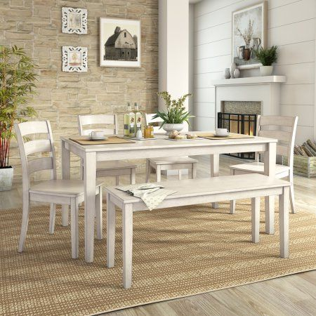 Terrific Lexington Large Dining Set With Bench And 4 Ladder Back Customarchery Wood Chair Design Ideas Customarcherynet