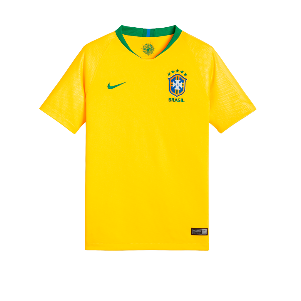 b258814cea 2018 Brasil CBF Stadium Home Camiseta de fútbol - Niño a. Nike.com ...