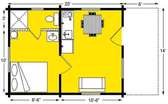 Camping Cabin Floor Plans 14 X 20 Floor Plan Small Cabin Plans Tiny House Plans Cabin Plans