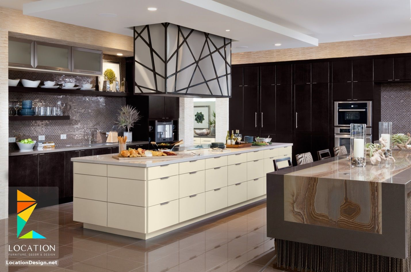 ديكورات مطابخ مودرن صغيرة لوكشين ديزين نت Kitchen Interior Design Modern Latest Kitchen Designs Contemporary Kitchen Plans