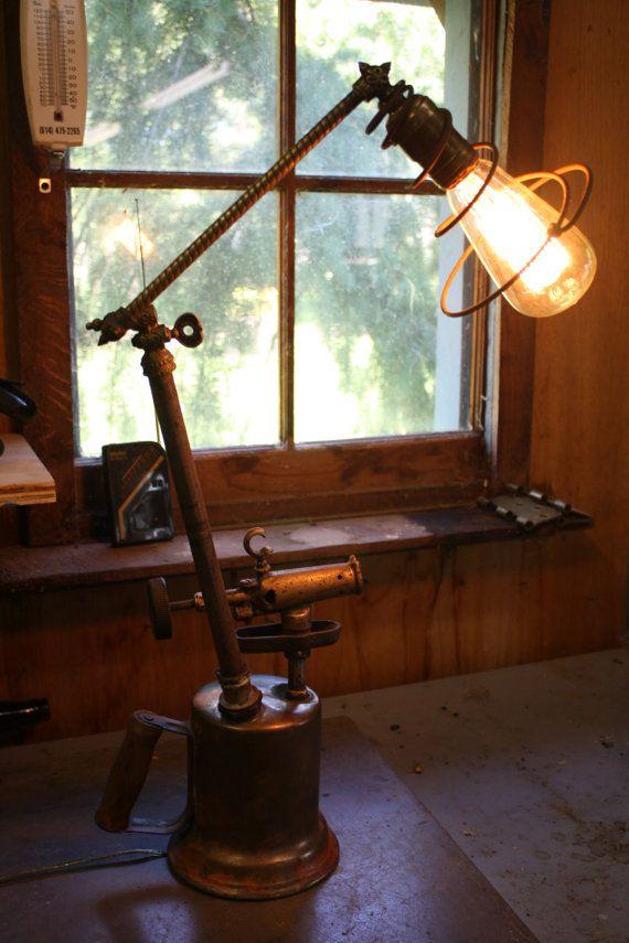 Antique Blow Torch Table Lamp Room Lamp Best Desk Lamp Bedroom Lamps