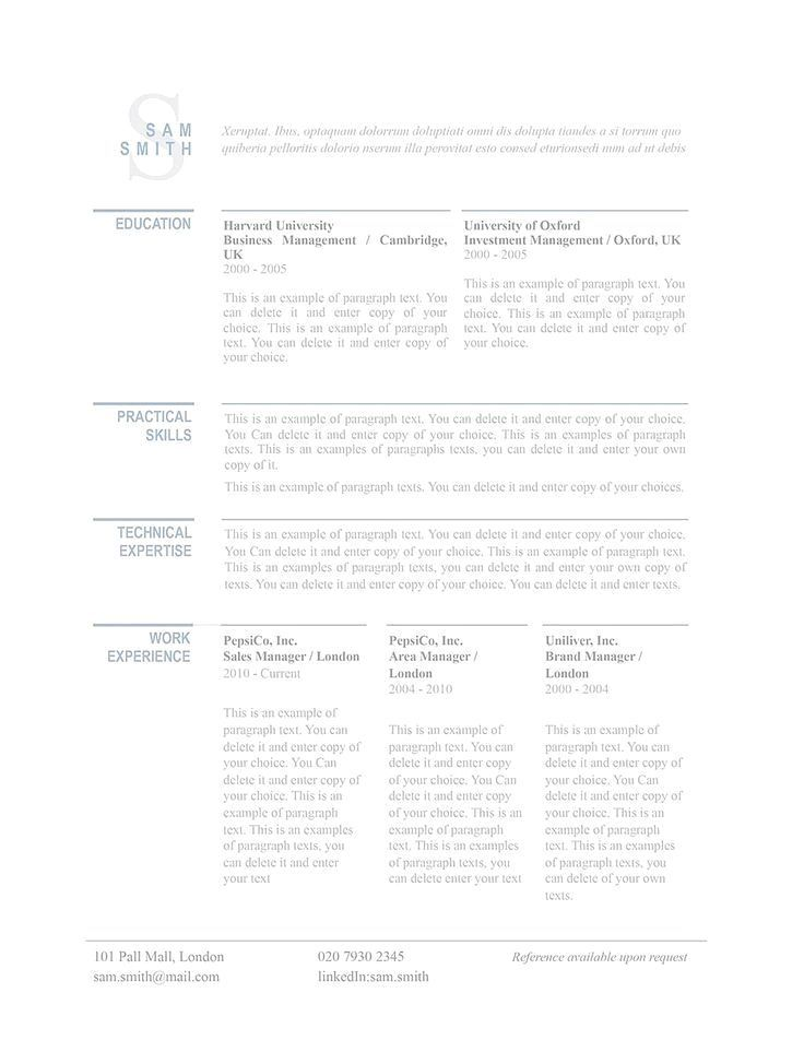Classic resume template 110760 is ideal for traditional or