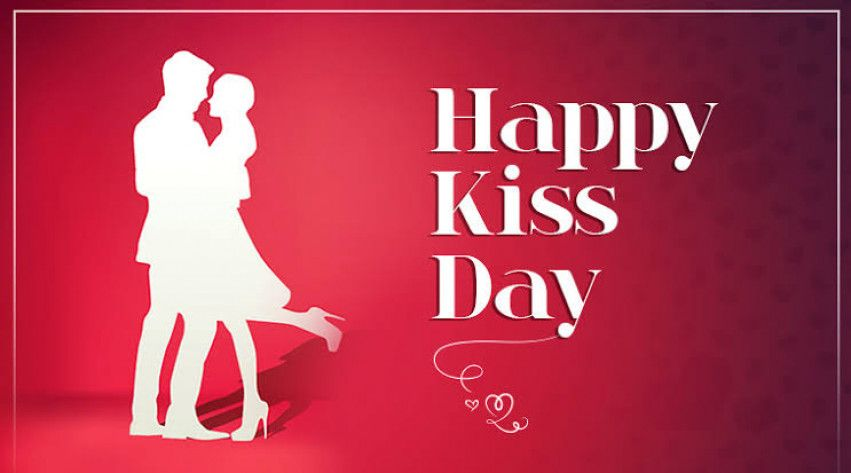 Cute Kiss Day For Valentine S Day Wish Image In 2020 Happy Kiss