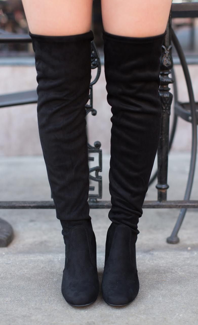 Chinese Laundry Kiara Over The Knee Boot Black Over The Knee