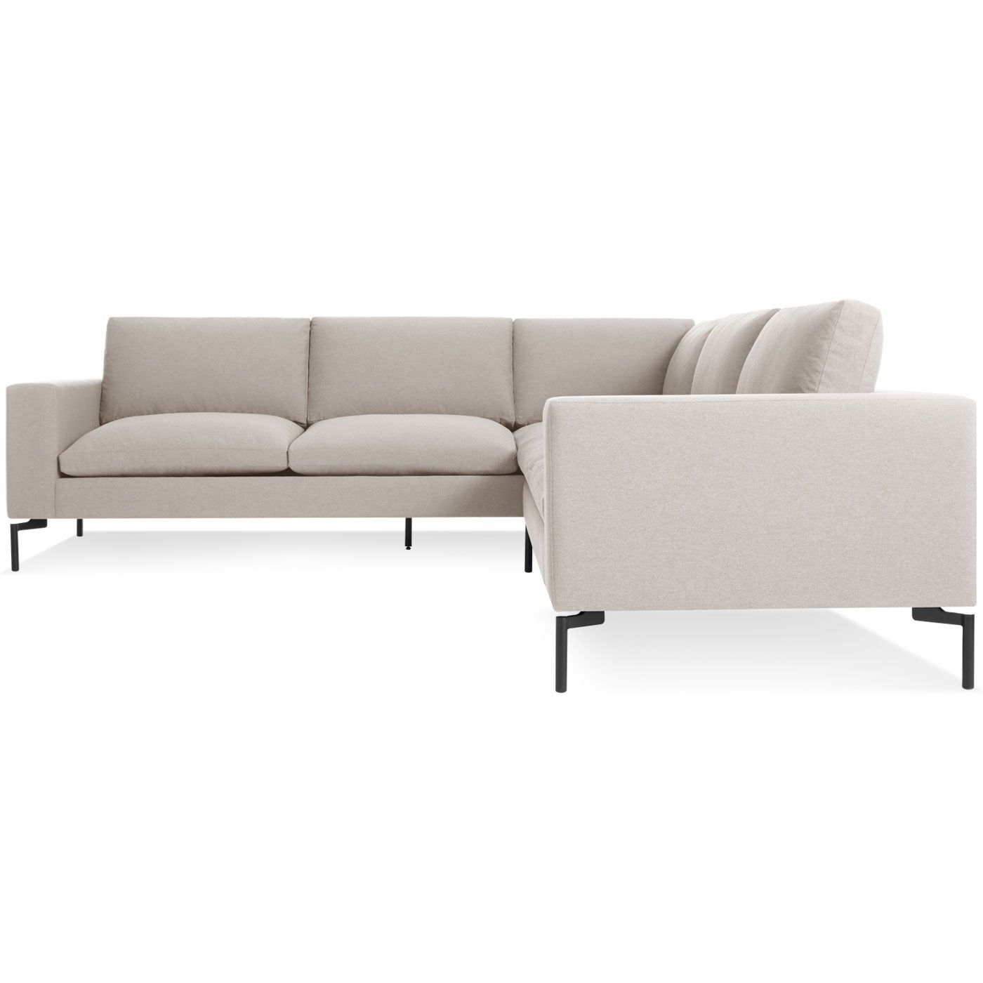 new standard l shaped sectional a nixon sand black 2 $3 998 00