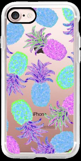 Pineapple Pandemonium Lavender Blue Transparent/Clear