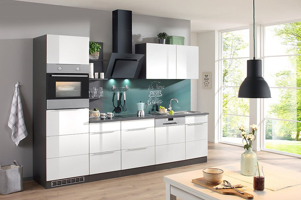 Küchenzeile mit E-Geräten »Brindisi, Breite 280 cm« Jetzt - küchenblock mit elektrogeräten