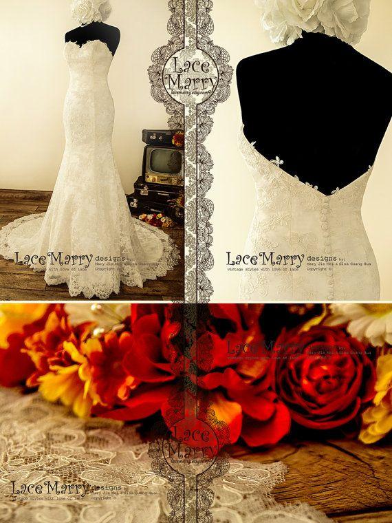 Exquisite Strapless Sweetheart Neckline Trumpet Style von LaceMarry