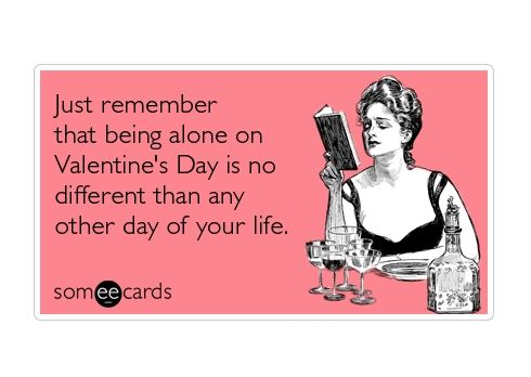 Funny Someecards : How to spend valentine's day alone ecards humor and someecards