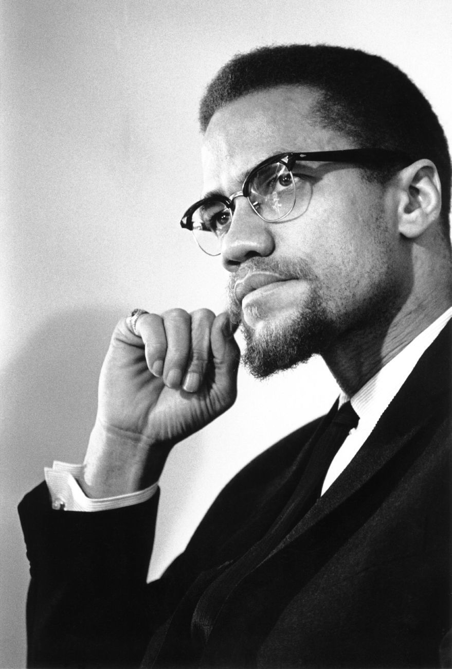 malcolm x malcolm x poses for an iconic portrait being malcolm x noted black historian john henrik clarke and other black nationalists leaders founded the organization of afro american unity on more