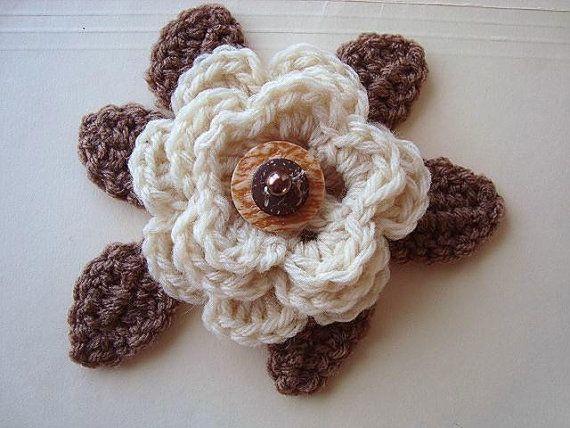 Crochet FLOWERS 4 styles Crochet PATTERN leaves by Hectanooga