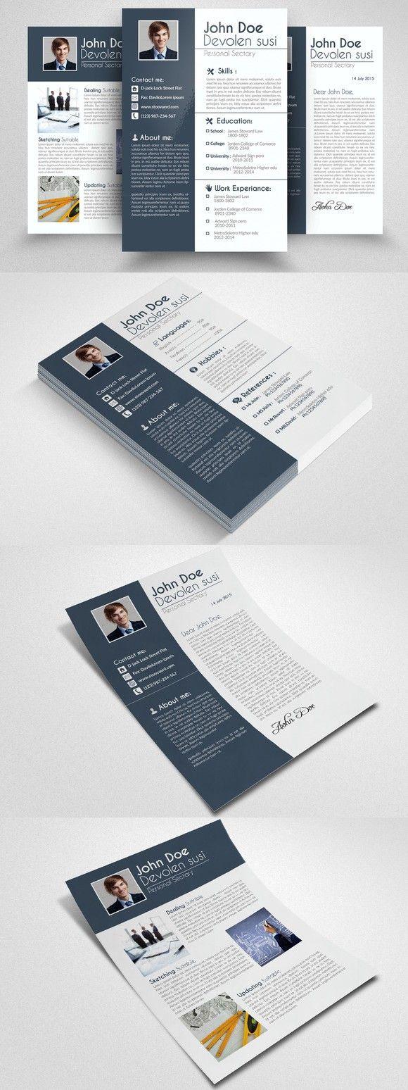 Page Resume Portfolio Cover Letter  Portfolio Covers Template