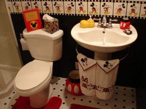 15 Cute Kids Bathroom Decor Ideas Shelterness Kid Bathroom Decor Mickey Mouse Bathroom Disney Home Decor Disney mickey mouse bathroom decor